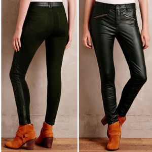 Anthropologie Pilcro Faux Leather Moto Skinny